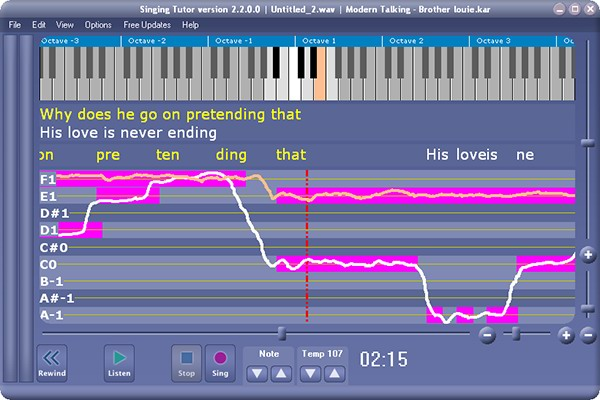Click to view Xitona Singing Tutor 2.2.2.4 screenshot