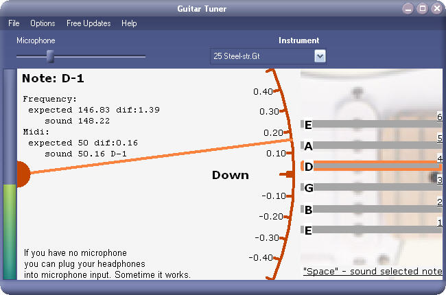 Click to view Xitona Guitar Tuner 1.2.0.0 screenshot