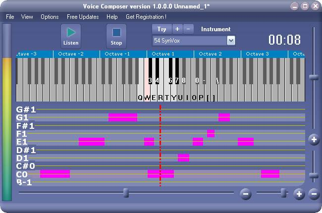 Vocal Pitch measure Voice to Midi converter.